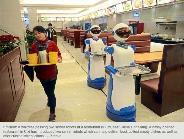レストラン、ショップ、いろいろなところにロボットが出てきた中国(http://www.thestar.com.my/)