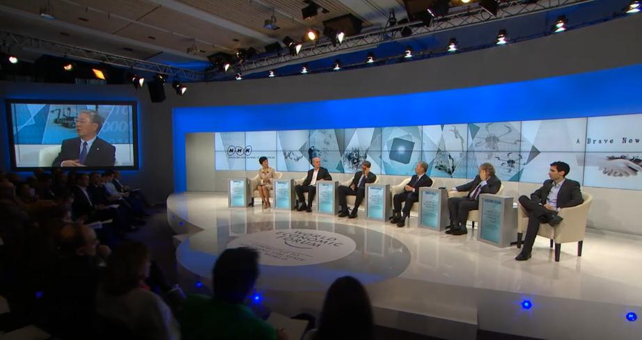 WEFとNHKが共同企画した『素晴らしき新世界』のセッションの様子