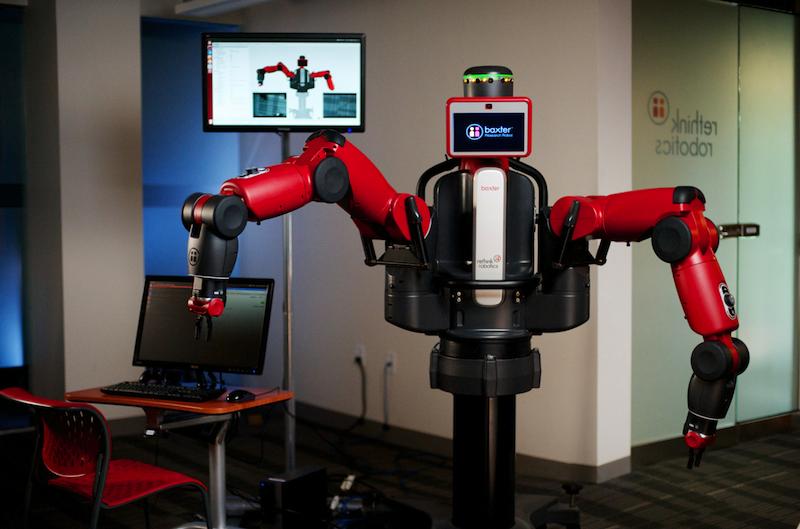 バクスターは、生産だけなく、遠隔医療にも挑む(http://www.rethinkrobotics.com/より)