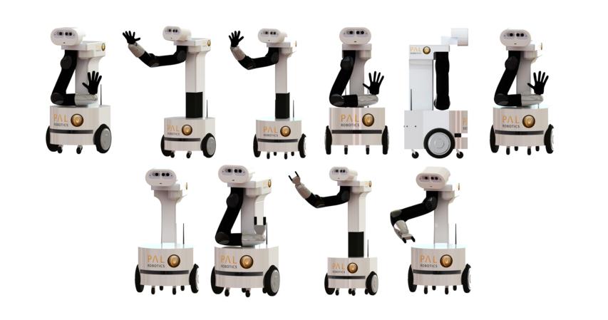 ティアゴには3種の組み合わせがある(http://www.pal-robotics.com/en/より)