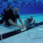 オリンピック水泳競技は、ロボットで撮影
